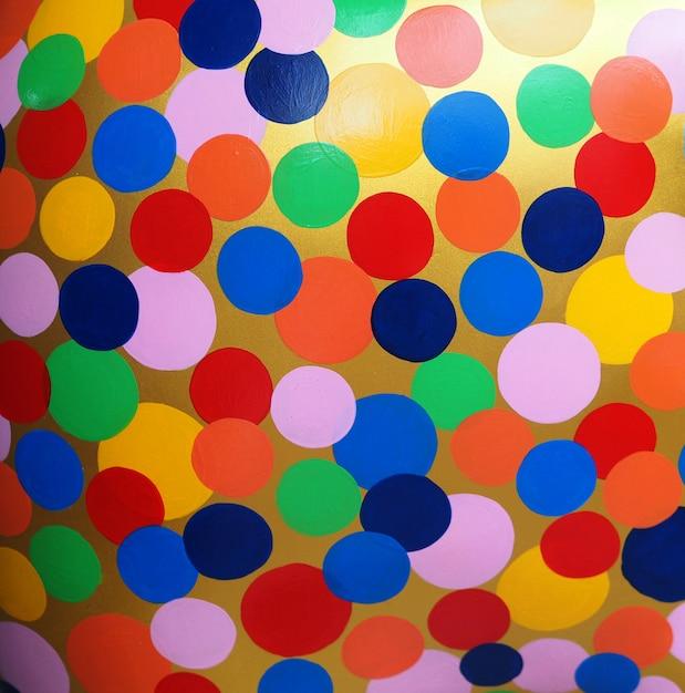 Círculo colorido pintura a óleo multi cores abstraem base e textura Foto Premium
