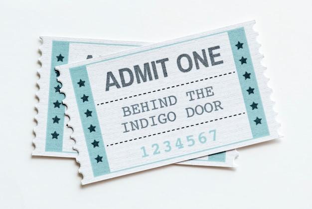 Close de um conceito de entretenimento bilhete de entretenimento show Foto gratuita