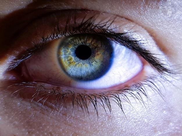 Close dos olhos profundos de um ser humano do sexo feminino Foto gratuita