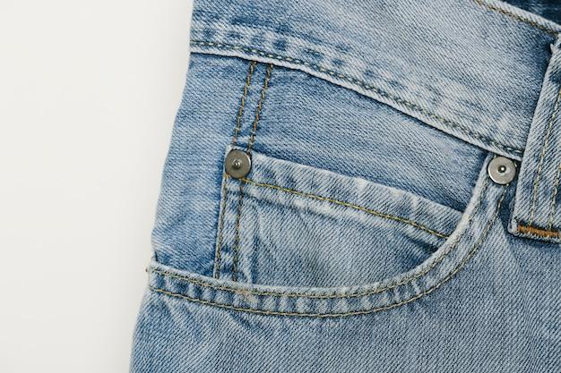 Close-up azul do bolso de moeda do denim Foto gratuita