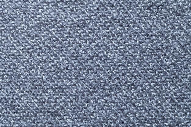 Close up azul do fundo de matéria têxtil. estrutura da macro de tecido Foto Premium