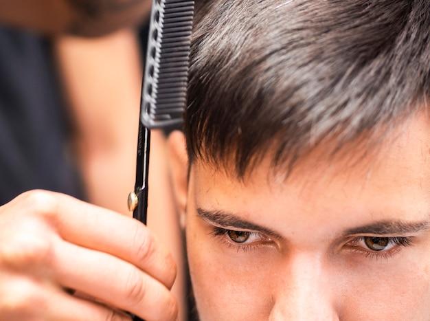 Close-up, cliente, marrom, olhos Foto gratuita
