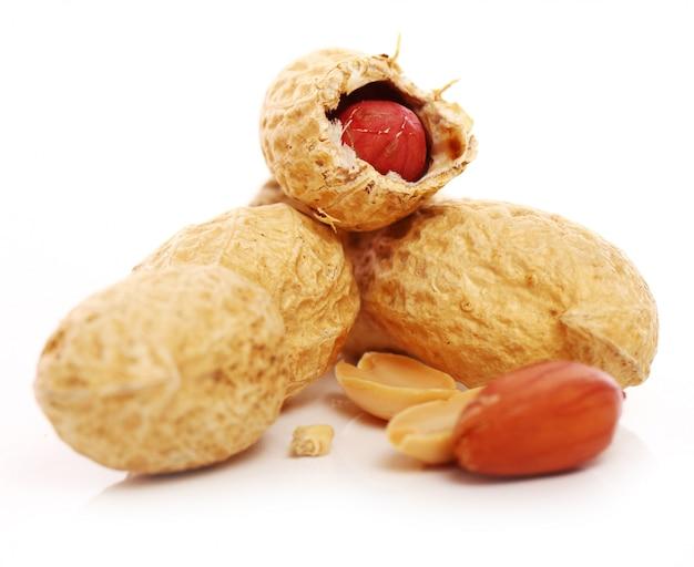 Close-up de amendoins frescos Foto gratuita