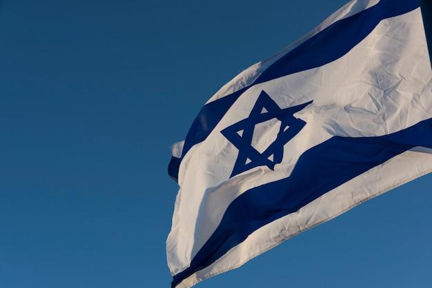 Close-up, de, bandeira israelita, israel Foto Premium