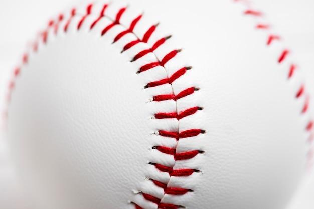 Close-up de beisebol limpo Foto gratuita