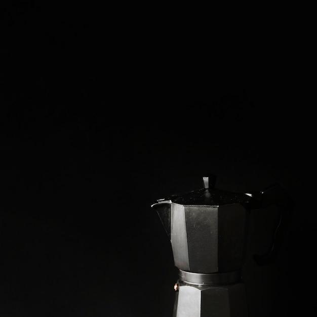 Close-up, de, cafeteira, ligado, experiência preta Foto gratuita