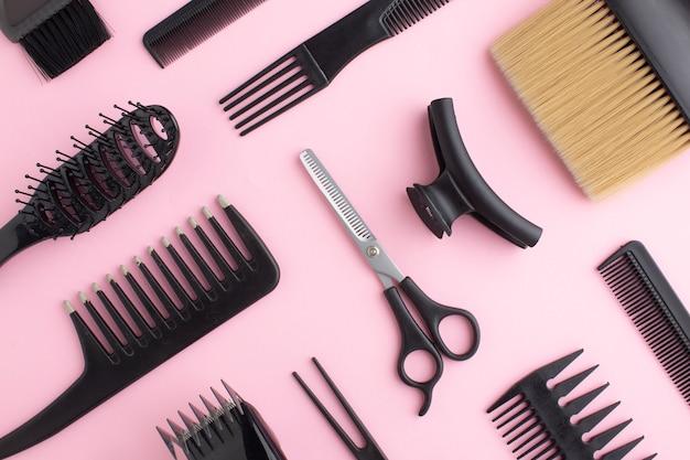 Close-up de equipamentos de cabelo Foto gratuita