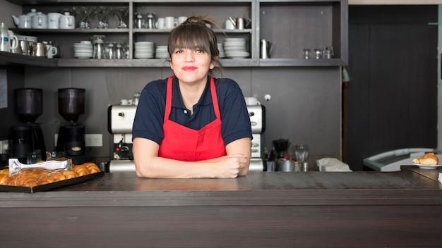 Close-up, de, femininas, advogado, em, a, loja café Foto gratuita