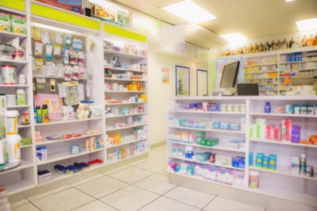 Close up de prateleiras de drogas Foto Premium