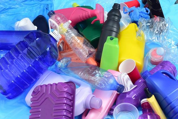 Close up de um plástico reciclado Foto Premium