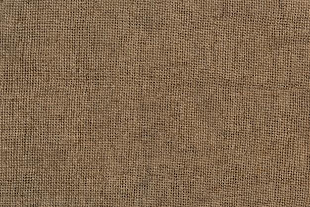 Close-up de um saco de juta de serapilheira texturizada fundo Foto gratuita