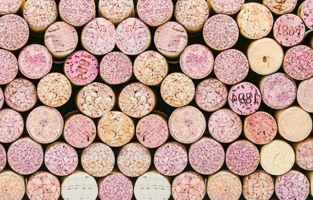Close-up de um vinho de cortiça Foto Premium