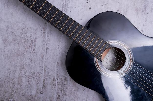 Close up de uma guitarra Foto gratuita