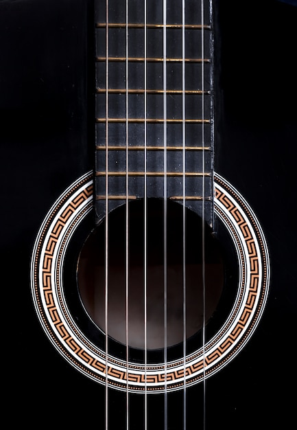 Close up de uma guitarra Foto Premium