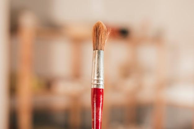 Close-up, de, vermelho, pincel Foto gratuita
