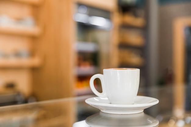 Close-up, de, xícara café, ligado, desfocado, fundo Foto gratuita