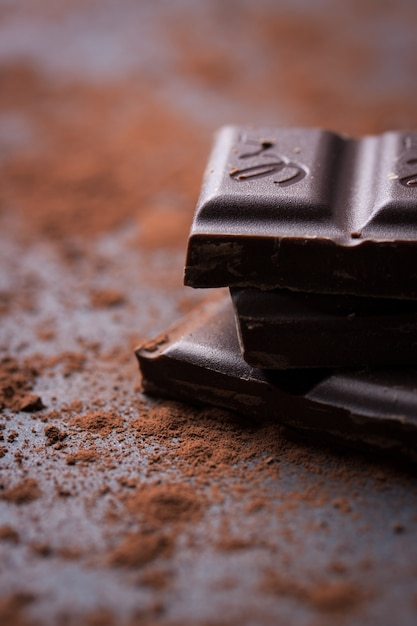 Close-up do chocolate escuro Foto gratuita