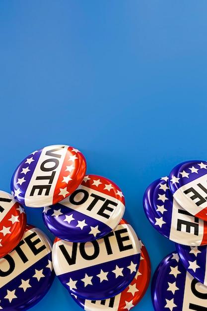 Close-up do conceito de eleições nos eua Foto gratuita