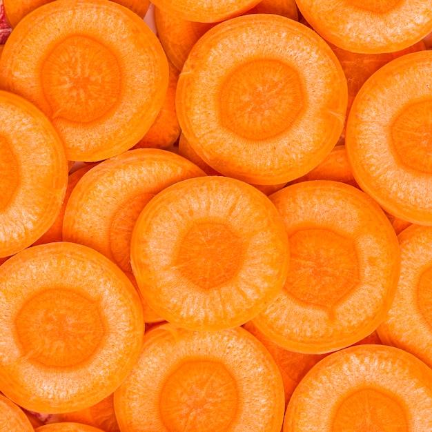 Close-up, fatias, de, cenoura Foto Premium