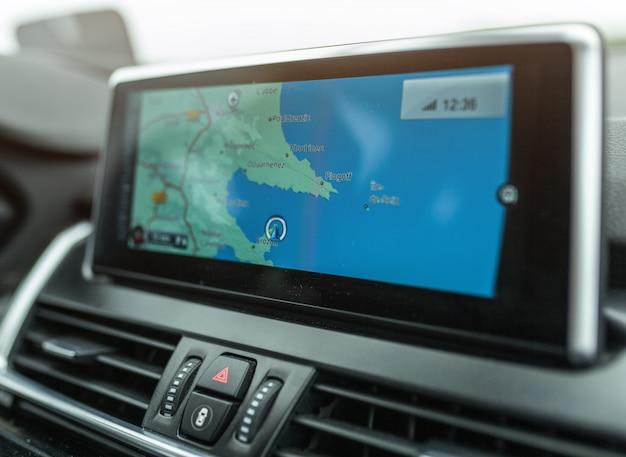 Close-up, gps, navegação, sistema, dispositivo, viajando, car Foto Premium