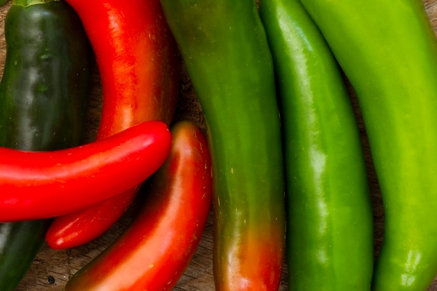 Close-up hot chili peppers Foto gratuita