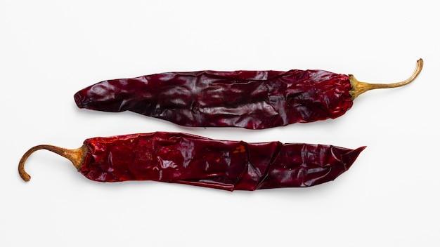 Close-up secas malagueta vermelha Foto gratuita