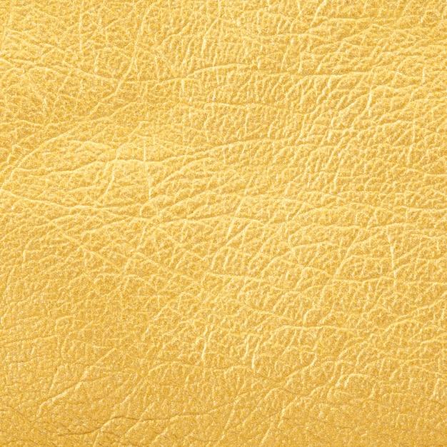 Close-up tiro de fundo de textura de couro dourado Foto Premium