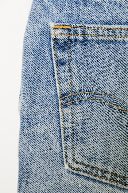 Close-up vintage jeans azul Foto gratuita