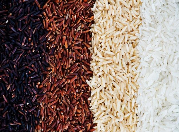 Closeup de arroz misto Foto gratuita