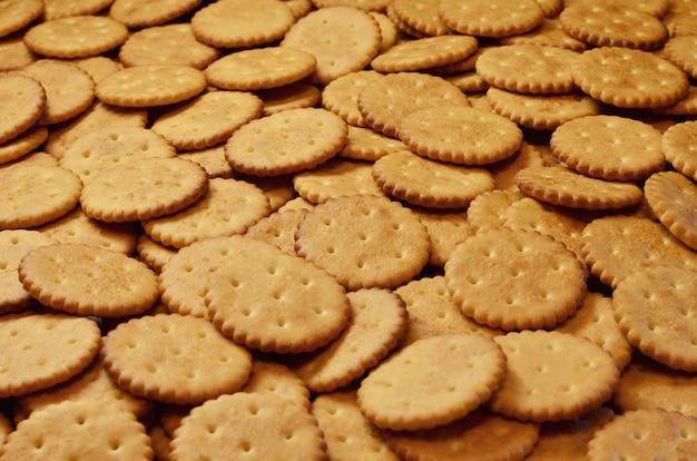 Closeup de biscoitos salgados Foto Premium