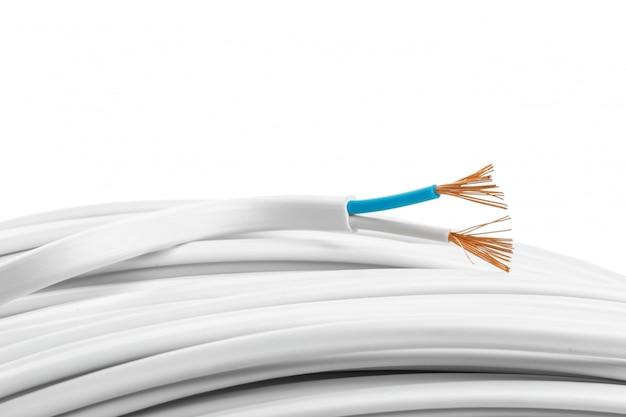 Closeup de cabos elétricos Foto Premium