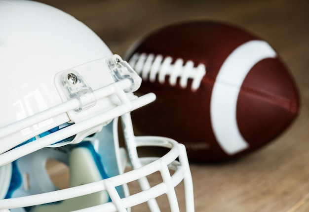 Closeup de capacete de futebol americano Foto gratuita