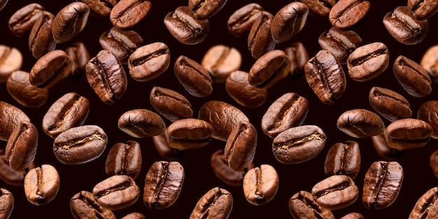 Closeup de grãos de café Foto Premium