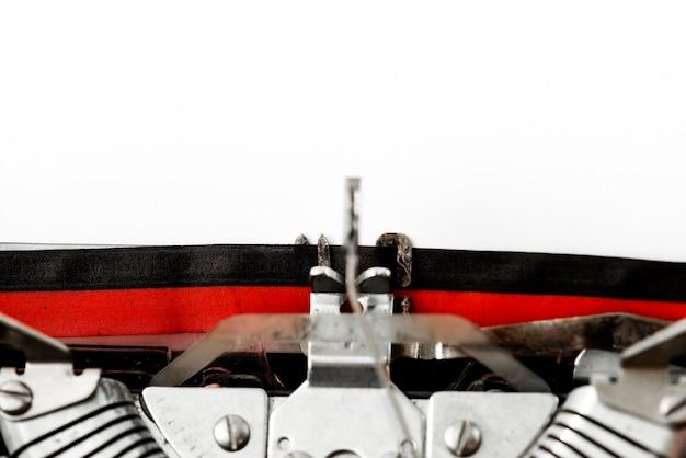 Closeup, de, retro, typewriter Foto gratuita