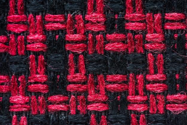 Closeup de tecido vermelho e preto Foto gratuita