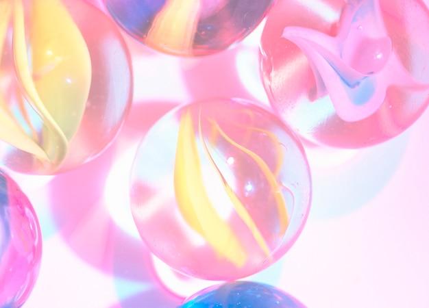 Closeup, tiro, de, vidro, mármores Foto gratuita
