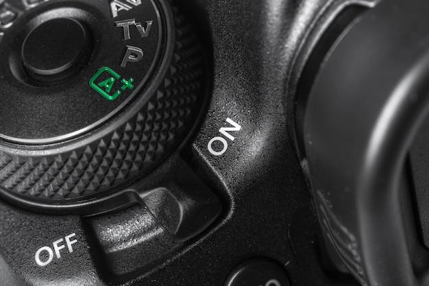 Closeup, vista, de, câmera digital Foto Premium
