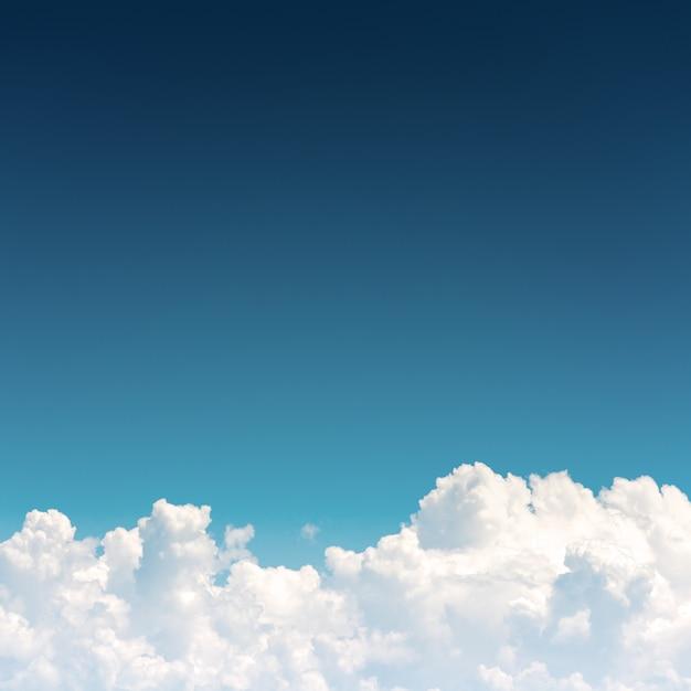 Cloudscape, céu azul e nuvem branca Foto Premium