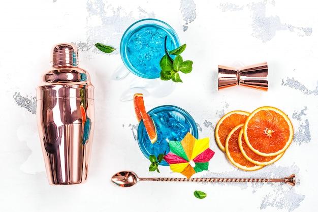Cocktail lagoa azul Foto Premium