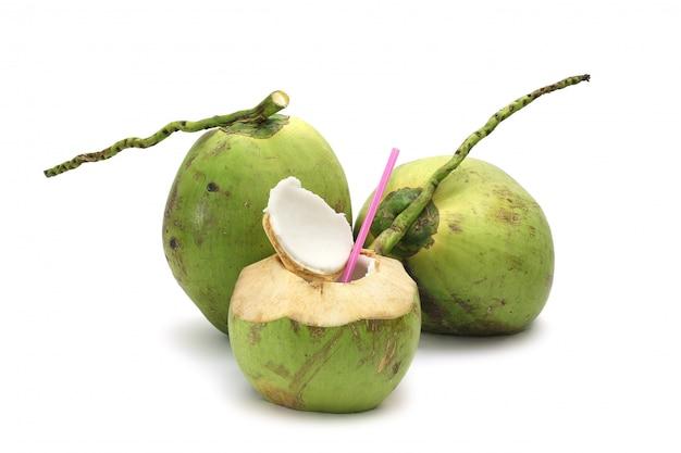 Coco maduro e saboroso isolado Foto Premium