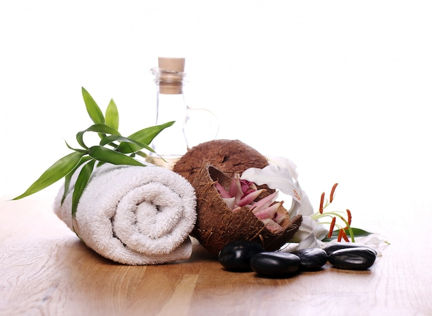 Coisas de spa e bem-estar Foto gratuita