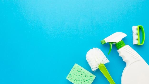 Coleção de higiene com espaço de cópia Foto gratuita