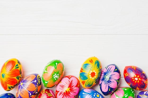 Coleção de ovos de páscoa Foto gratuita