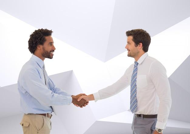 Colegas de trabalho sorrir introdução cópia parceria Foto gratuita