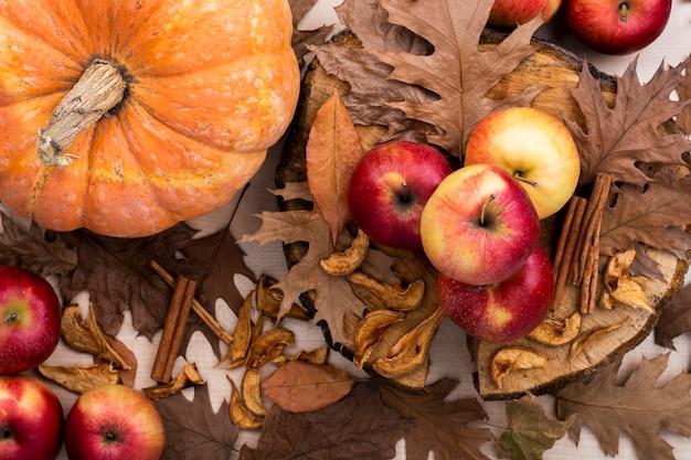 Colheita de outono vista superior Foto gratuita