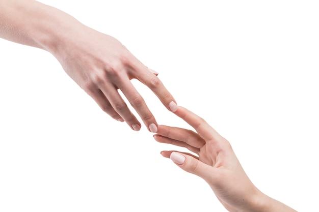 Colheita, mãos, tocar, um ao outro Foto gratuita