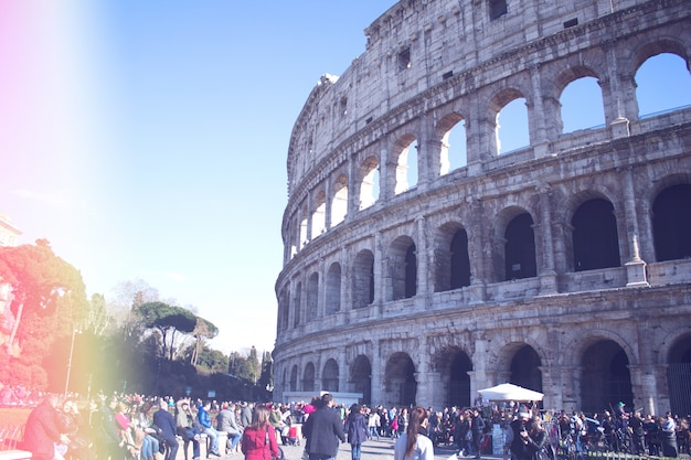 Coliseu de roma Foto gratuita
