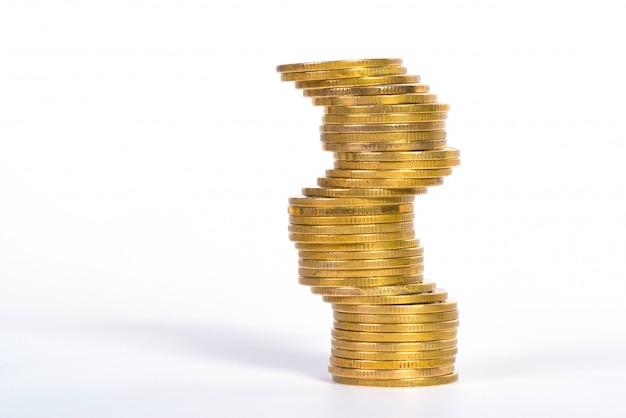 Coluna de moedas Foto Premium