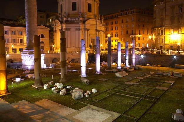 Coluna de trajano em roma Foto Premium