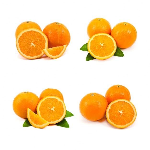 Comer fundos objeto branco laranja Foto gratuita